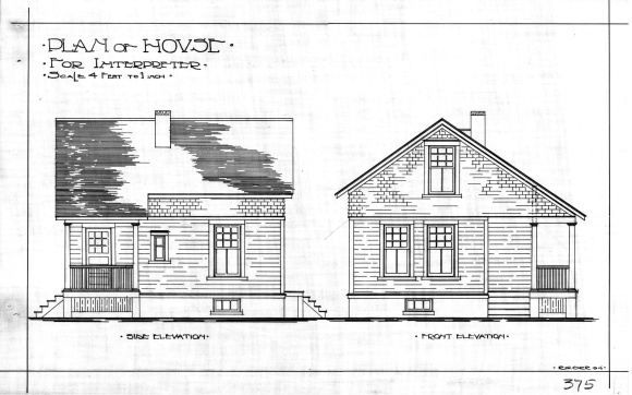 """R.G. Orr, """"Plan of House for Interpreter"""", 1916, Library and Archives Canada."""